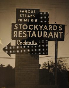 Original Stockyards sign