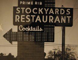 Original Stockyards sign