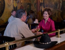 Stockyards guests enjoying refreshments in the Rose Room