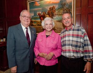 The Honorable Bud Jones, former Chief Justice of the Arizona Supreme Court and current co-chair of the Arizona Centennial Commission, (left), former Justice Sandra Day O'Connor and Gary Lasko at the Celebrating Arizona's Influencers event.